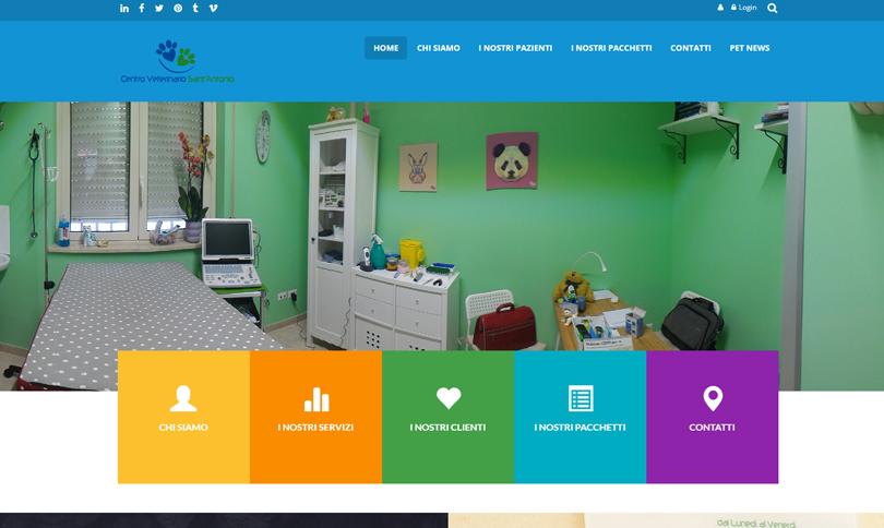 sito web Centro Veterinario Sant'Antonio