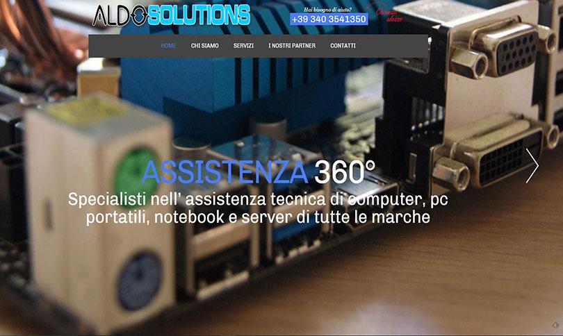 sito web Aldo Solutions