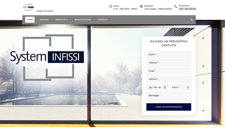 sito web System Infissi