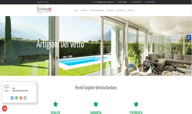 sito web Vetreria Giordano