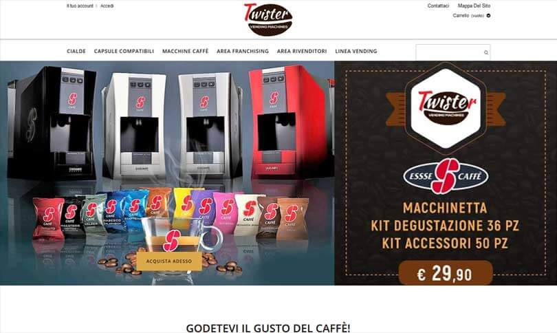 Twister vending machines