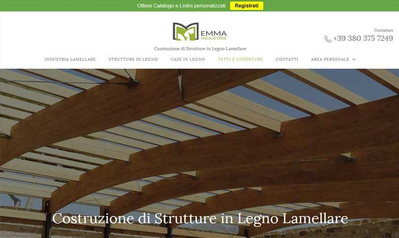 Emma Industrie - Costruzione di Strutture in Legno Lamellare
